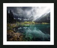 Azul turquesa. Picture Frame print