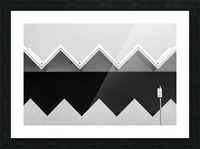 Zig Zag Shadow Picture Frame print
