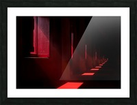 In the red temple Picture Frame print