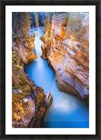 Athabasca Falls At Dusk, Jasper National Park, Alberta Picture Frame print