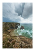 Bedruthan Steps; Cornwall, England Picture Frame print