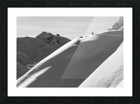 Extreme snowboarding, Arlberg; Austria Picture Frame print