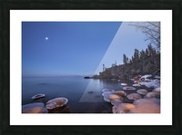 Lake superior at dusk; Thunder Bay, Ontario, Canada Picture Frame print