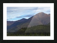 Late afternoon light shining on the mountains along the Wind River in the Peel Watershed; Yukon, Canada Picture Frame print