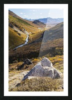 Savage River and the landscape in the rocky high country, Denali National Park and Preserve, interior Alaska; Alaska, United States of America Picture Frame print