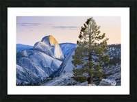 Half Dome seen from Olmsted Point, Yosemite National Park; California, United States of America Picture Frame print