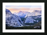 The high country in Yosemite National Park; California, United States of America Picture Frame print