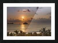 Sunset over the islands in front of Ixtapa; Ixtapa, Mexico Picture Frame print
