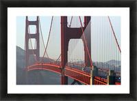 R.Watts; Golden Gate Bridge, San Francisco, Ca Picture Frame print