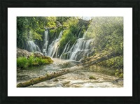 The Deschutes River Falls at the base of the old Olympia Brewery, an HDR image of only a portion of the falls; Tumwater, Washington, United States of America Picture Frame print