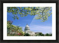 R.Watts; Capitol Building Washington, Dc Picture Frame print