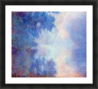 Seine in Morning by Monet Picture Frame print