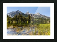 Taggart Lake and Grand Teton, Grand Teton National Park; Wyoming, United States of America Picture Frame print
