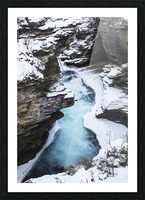 Athabasca Falls in winter, Jasper National Park; Alberta, Canada Picture Frame print