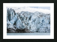 Front face of Colony Glacier, South-central Alaska; Alaska, United States of America Picture Frame print