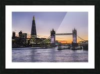 Tower Bridge and The Shard at dusk; London, England Picture Frame print