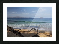View of Kahoolawe and Molokini Islands from Little Beach at Makena Beach State Park; Maui, Hawaii, United States of America Picture Frame print