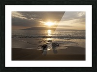 Sunset over Lanai Isle; Lahaina, Maui, Hawaii, United States of America Picture Frame print