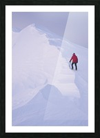 Climber Acsends A Unnamed Peak At Sunset, Prince William Sound, Chugach National Forest, Alaska Picture Frame print