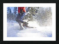 Young Woman On Snowshoes Enjoy The Outdoors Near Homer, Alaska During Winter. Picture Frame print