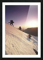 Mountain Climbers @ Sunset Chugach Mts Southcentral Ak Picture Frame print