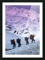 Mountain Climbers Byron Glacier Southcentral Ak Spring Picture Frame print