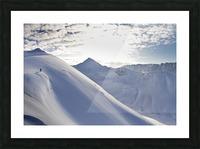 Man Backcountry Skiing In Powder Snow At Wolverine Bowl, Turnagain Pass, Kenai Mountains, Southcentral Alaska, Winter Picture Frame print