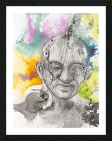 Illustration of a man wearing eyeglasses Picture Frame print