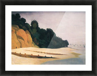 Shore scene with tree silhouette by Felix Vallotton Picture Frame print