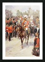 George V, as Field Marshal and British Regiments of which he was colonel.  George Frederick Ernest Albert, 1865 to 1936.  After the painting by Frederic de Haenen from The Illustrated London News, 1910. Picture Frame print