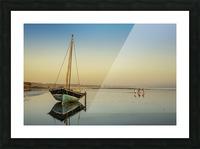Dhow in low tide; Pemba, Cabo Delgado, Mozambique Picture Frame print