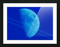 Blue moon Picture Frame print