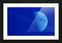 Moon lines Picture Frame print