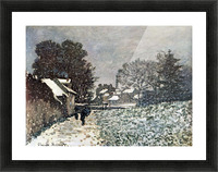 Snow at Argenteuil by Monet Picture Frame print
