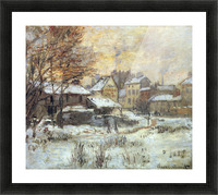 Snow at sunset, Argenteuil in the snow by Monet Picture Frame print
