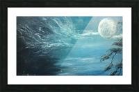 moon aura Picture Frame print
