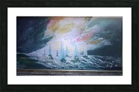 sail before storm Picture Frame print