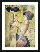 Japanese Statue Picture Frame print
