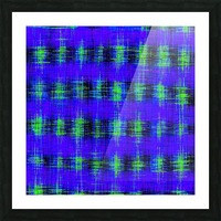 plaid pattern abstract texture in blue green black Picture Frame print