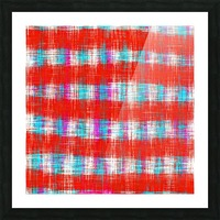 plaid pattern abstract texture in in red blue pink Picture Frame print