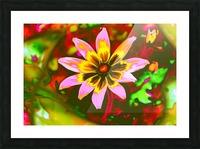flowerPowerWILD Picture Frame print