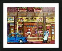 CHESKIES BAKERY RUE BERNARD MONTREAL STREET SCENE Picture Frame print