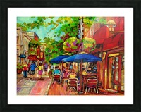 PRINCE ARTHUR CAFES MONTREAL SUMMER SCENE Picture Frame print