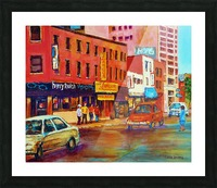 RUE ST LAURENT MONTREAL CINEMA L'AMOUR Picture Frame print