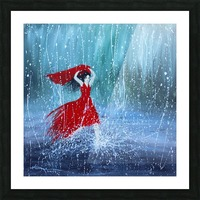 Being a Woman No7 - in the rain Picture Frame print
