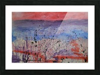 Abstract Sunset Wonder Picture Frame print