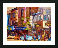 DOWNTOWN MONTREAL ST. CATHERINE WITH PAYLESS STORE Picture Frame print
