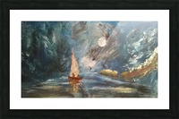 lost boat Picture Frame print