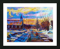 HOCKEY IN THE VILLAGE Picture Frame print