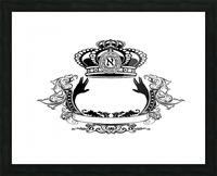 monogram crown  3 Picture Frame print